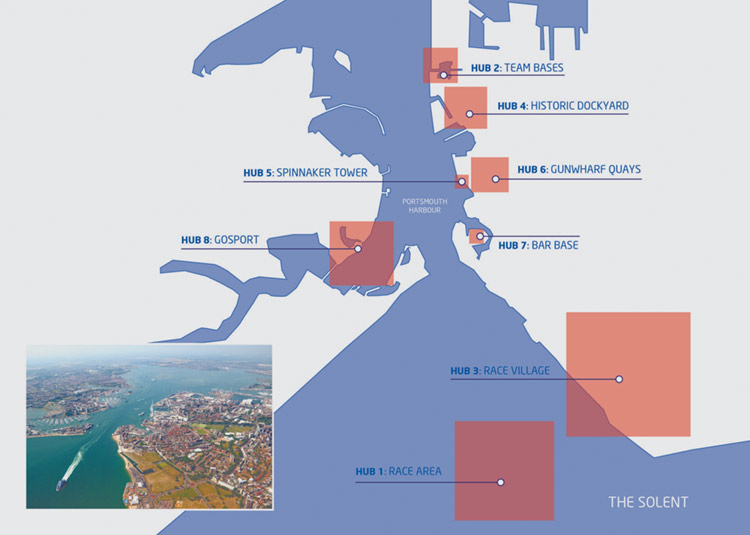 Plan of America's Cup World Series in Portsmouth England, July 2015 / 2016