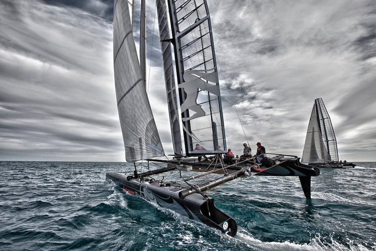 Artemis training on AC45 yachts. Image:�2024 Sander van der Borch/Artemis Racing