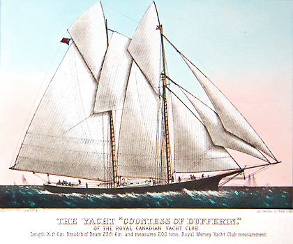 Countess of Dufferin shown in a Currier & Ives Print.
