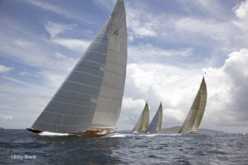 Four J-Class in St. Barts. Photo:�2012 Billy Black
