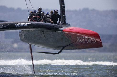 Oracle boat #2.  Photo:�2013 Oracle Team USA/Guilain Grenier