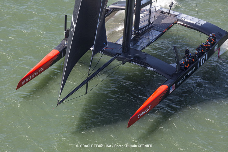 Oracle Team USA AC72 #2. Photo:�2013 Oracle Team USA/Guilain Grenier