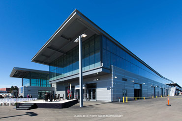 New America's Cup Building on Pier 27 in San Francisco. Photo:©2013 ACEA/Gilles Martin-Raget